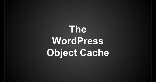 The WordPress Object Cache – Presentation